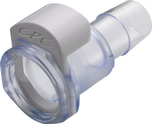 [MPX17803] 1/2 Hose Barb Non-Valved Class VI Polycarbonate Coupling Body